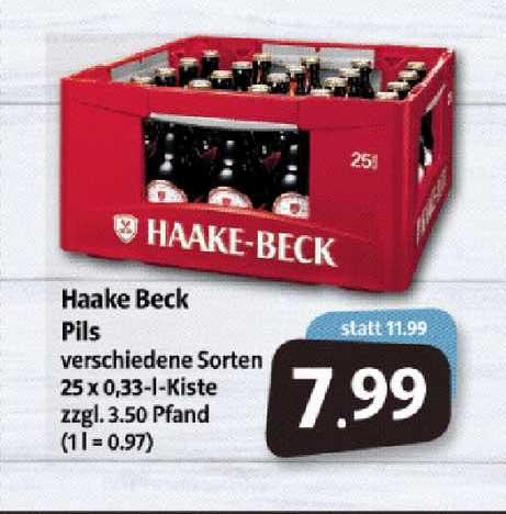 Markant Markt Haake Beck Pils