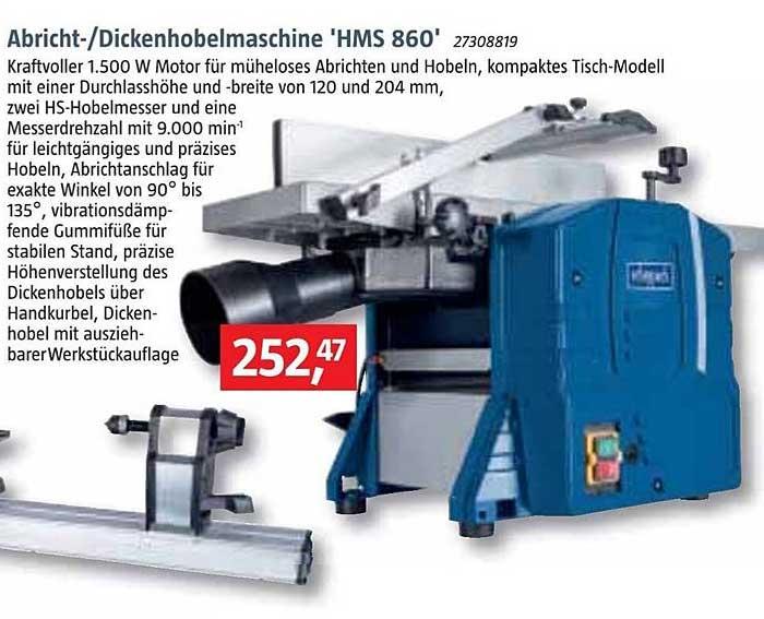 Bauhaus Abricht Dickenhobelmaschine Hms 860