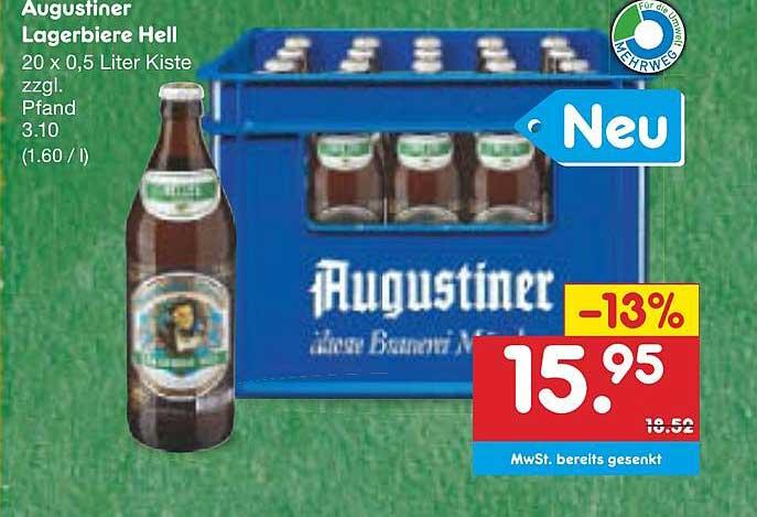 Netto Marken-Discount Augustiner Lagerbiere Hell