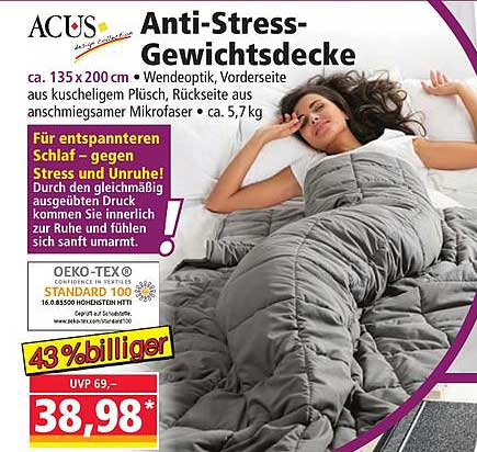 NORMA Acus Anti Stress Gewichtsdecke