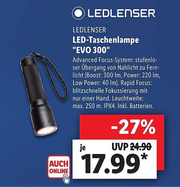 """Lidl Ledlenser Led-taschenlampe """"evo 300"""""""
