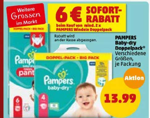 Penny Pampers Baby-dry Doppelpack