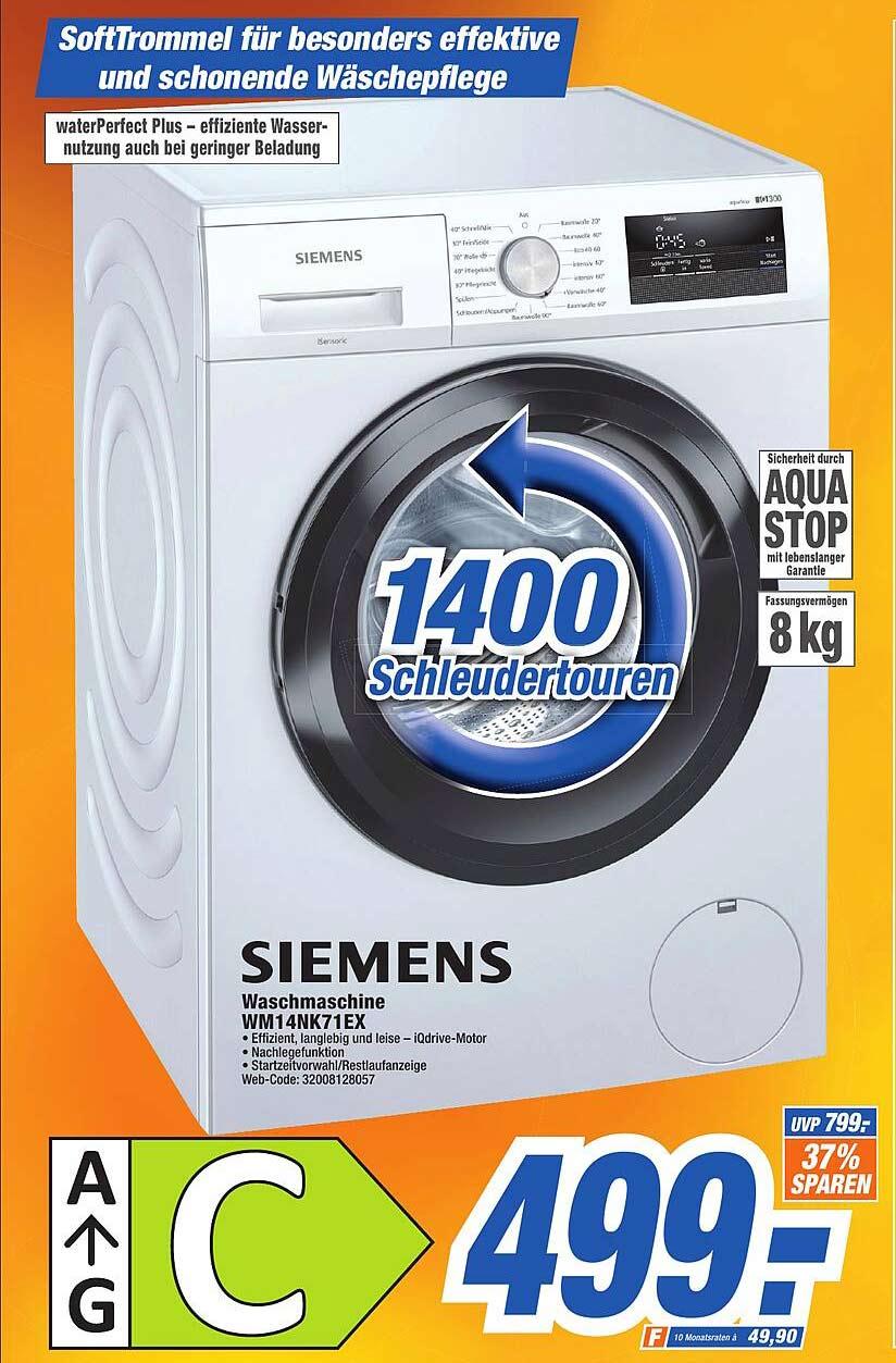 Expert Octomedia Siemens Waschmaschine Wm14nk71ex