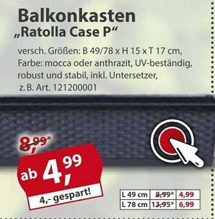 """Sonderpreis Baumarkt Balkonkasten """"ratolla Case P"""""""