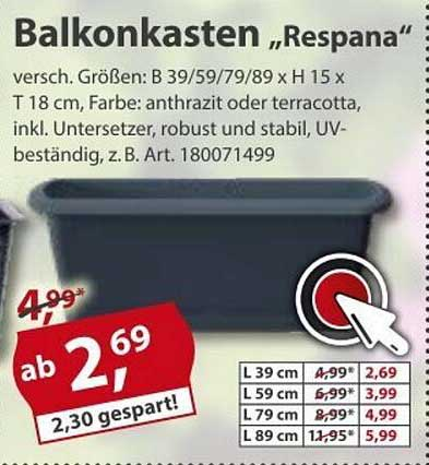 "Sonderpreis Baumarkt Balkonkasten ""respana"""