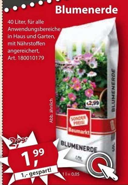Sonderpreis Baumarkt Blumenerde