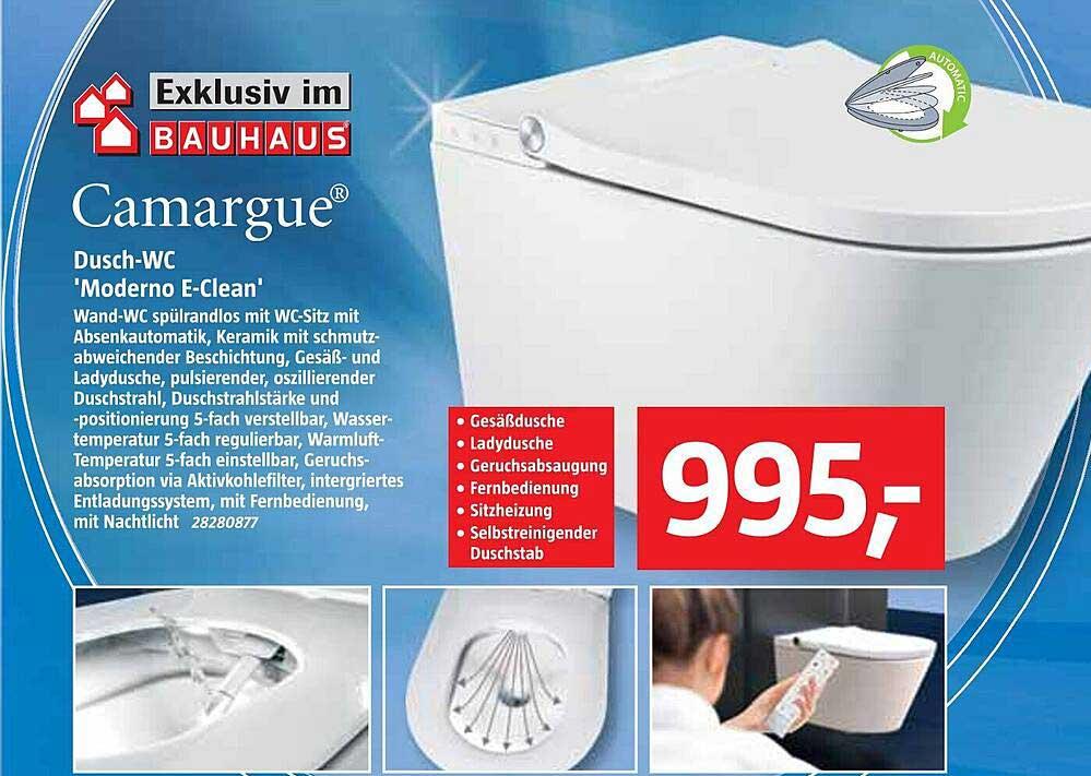"""Bauhaus Camargue Dusch-wc """"moderno E-clean"""""""