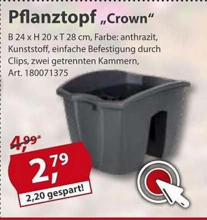 "Sonderpreis Baumarkt Pflanztopf ""crown"""
