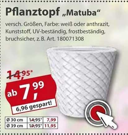 "Sonderpreis Baumarkt Pflanztopf ""matuba"""