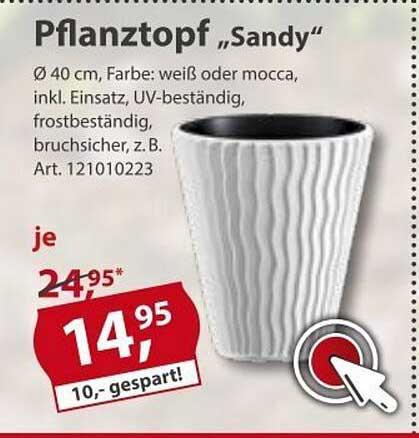 "Sonderpreis Baumarkt Pflanztopf ""sandy"""