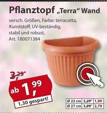 "Sonderpreis Baumarkt Pflanztopf ""terra"" Wand"