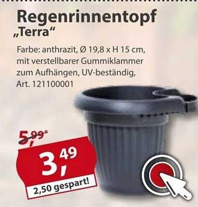 """Sonderpreis Baumarkt Regenrinnentopf """"terra"""""""