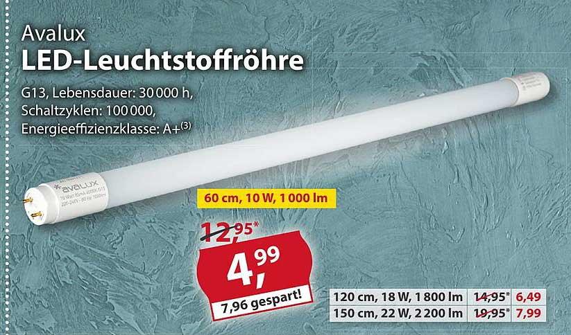 Sonderpreis Baumarkt Avalux Led Leuchtstoffröhre