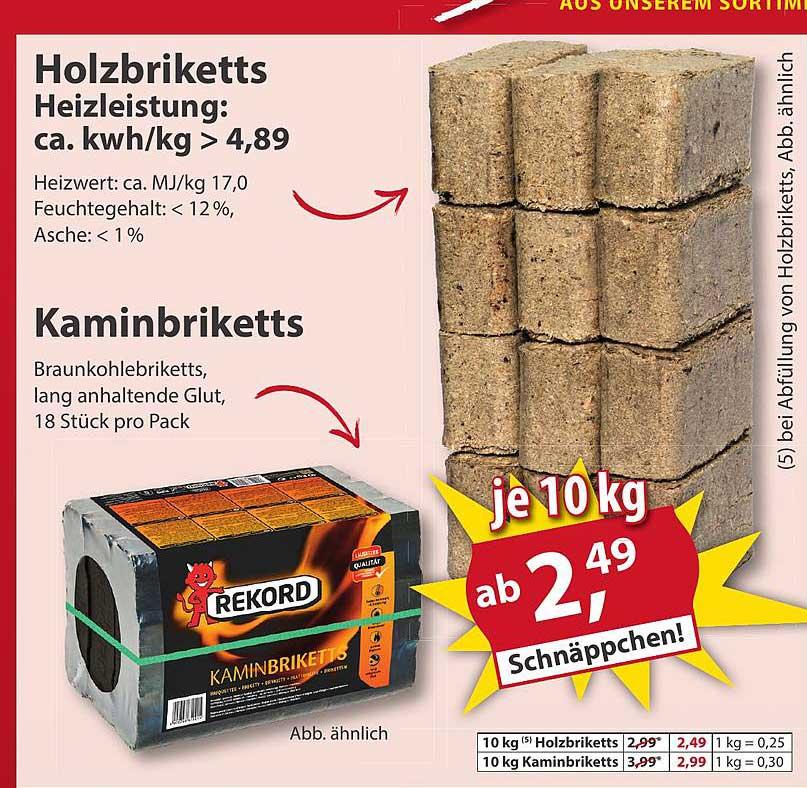 Sonderpreis Baumarkt Holzbriketts Oder Kaminbriketts
