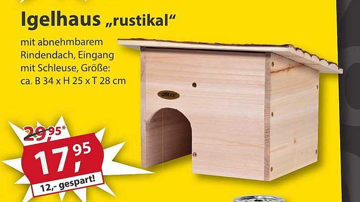 Sonderpreis Baumarkt Igelhaus Rustikal