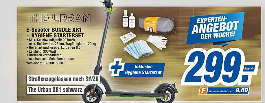 HEM Expert The Urban E-scooter Bundle Xr1 + Hygiene Starterset