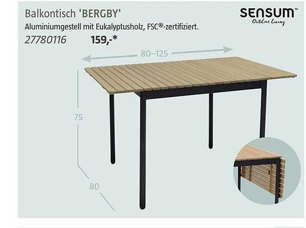 Bauhaus Sensum Balkontisch 'bergby'