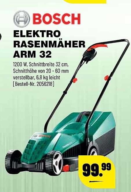 Leitermann Baumarkt Bosch Elektro Rasenmäher Arm32