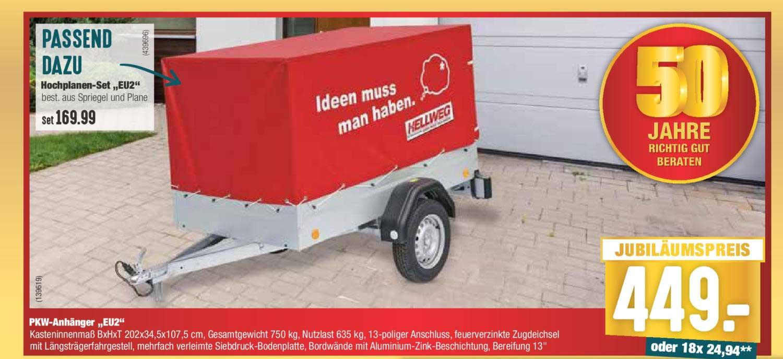 """Hellweg Pkw Anhänger """"EU2"""""""