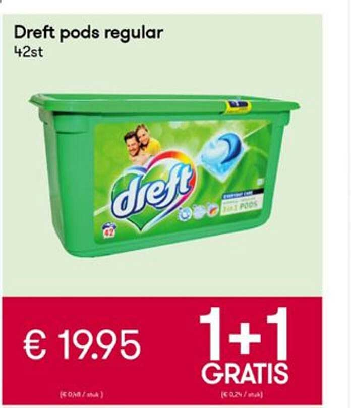 Peltri Dreft Pods Regular 1+1 Gratis