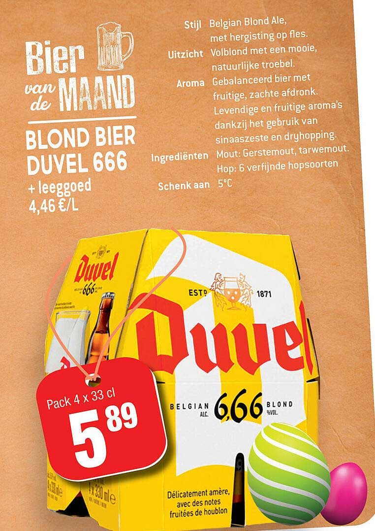 Smatch Blond Bier Duvel 666