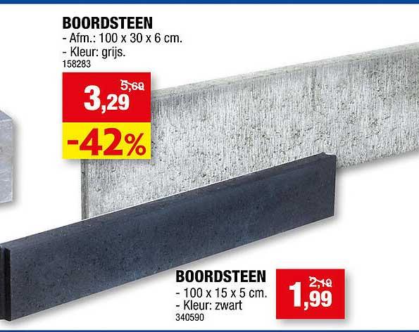 Hubo Boordsteen 100x30x6 Cm Of Boordsteen 100x15x5 Cm