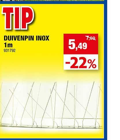 Hubo Duivenpin Inox 1m