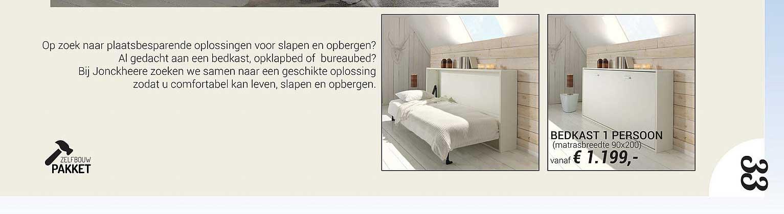 Meubelen Jonckheere Bedkast 1 Persoon 90x200