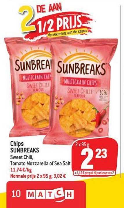 Match Chips Sunbreaks Sweet Chili