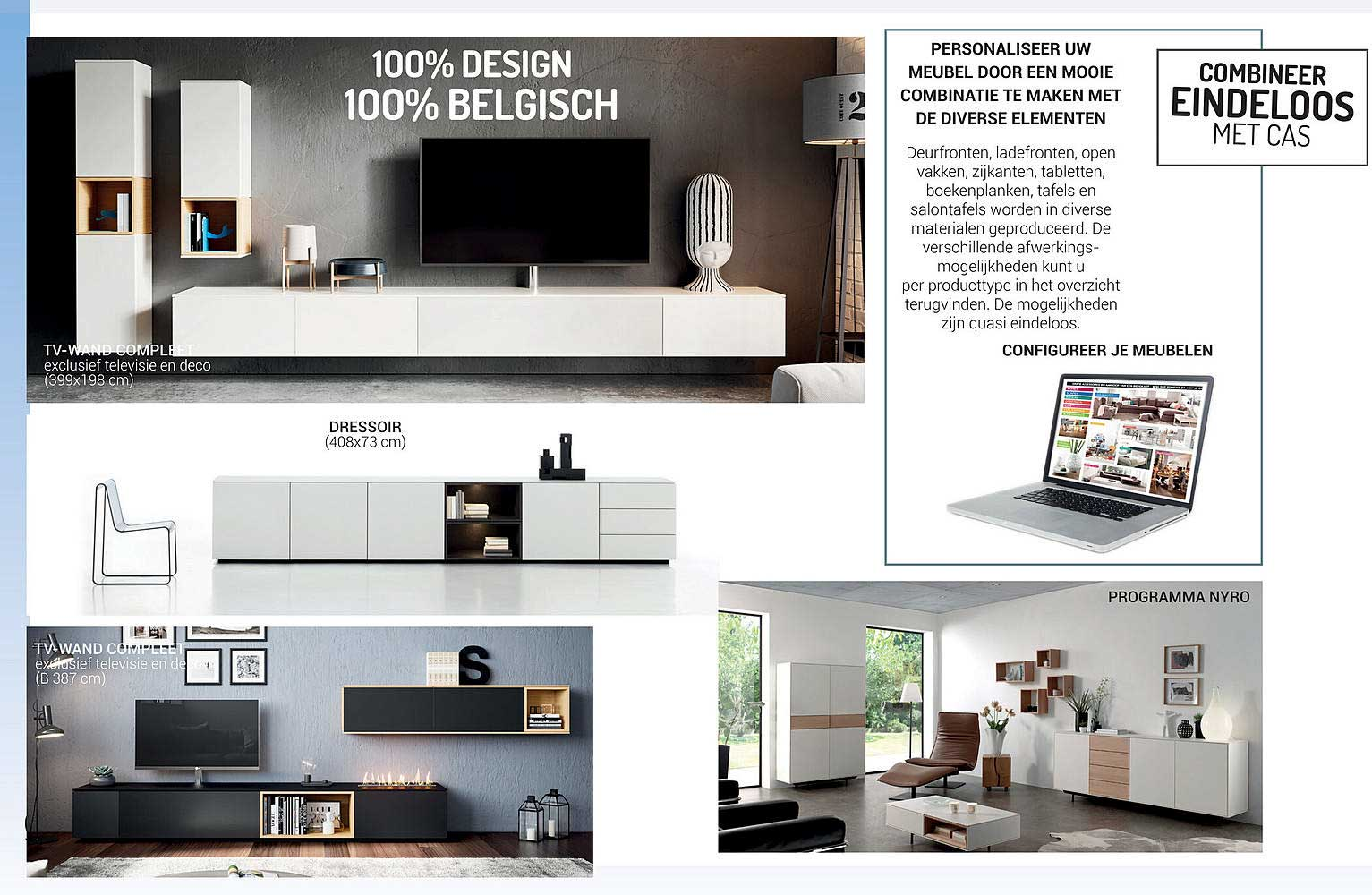 Meubelen Jonckheere Dressoir, Tv Wand Compleet,