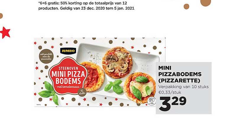 Jumbo Mini Pizzabodems