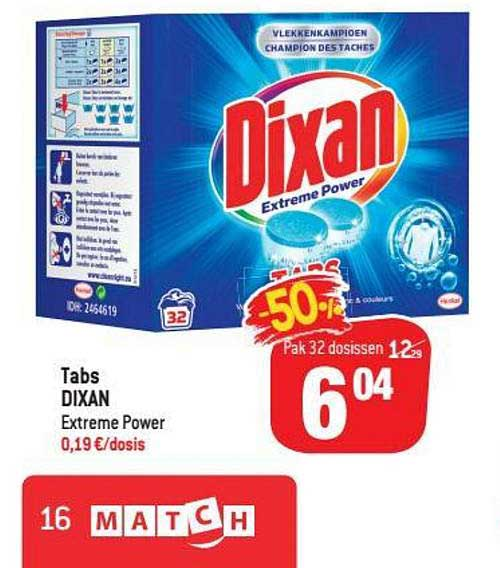 Match Tabs Dixan Extreme Power