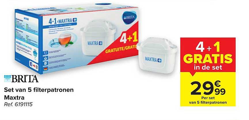 Hyper Carrefour Brita Set Van 5 Filterpatronen Maxtra