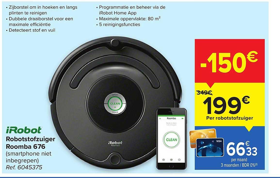 Hyper Carrefour Irobot Robotstofzuiger Roomba 676