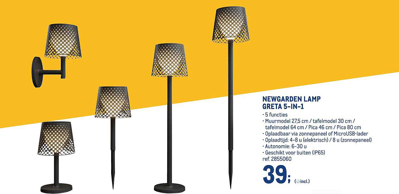 METRO Newgarden Lamp Greta 5 In 1