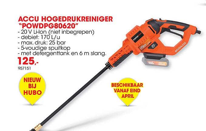 Hubo Accu Hogedrukreiniger Powdpg80620
