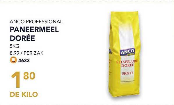 Bidfood Anco Professional Paneermeel Doree