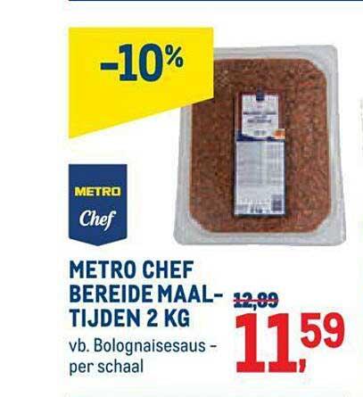 METRO Metro Chef Bereide Maaltijden 2 Kg