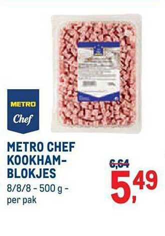 METRO Metro Chef Kookhamblokjes