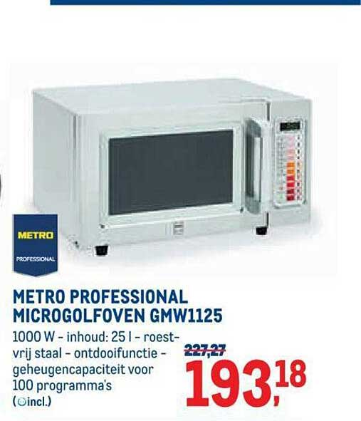 METRO Metro Professional Microgolfoven Gmw1125