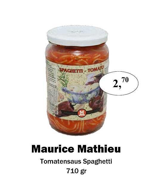 Maconal Food Maurice Mathieu Tomatensaus Spaghetti