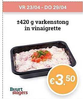Buurtslagers 420 G Varkenstong In Vinaigrette