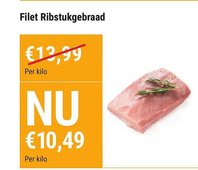 Vleesmeester Filet Ribstukgebraad