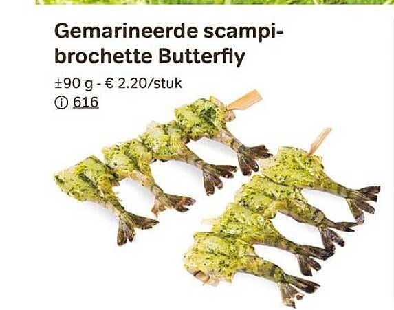 Bon Ap Gemarineerde Scampibrochette Butterfly