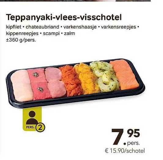 Bon Ap Teppanyaki-vlees-visschotel