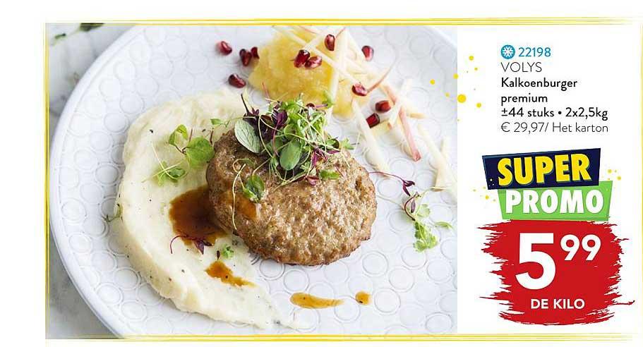 Bidfood Kalkoenburger Premium