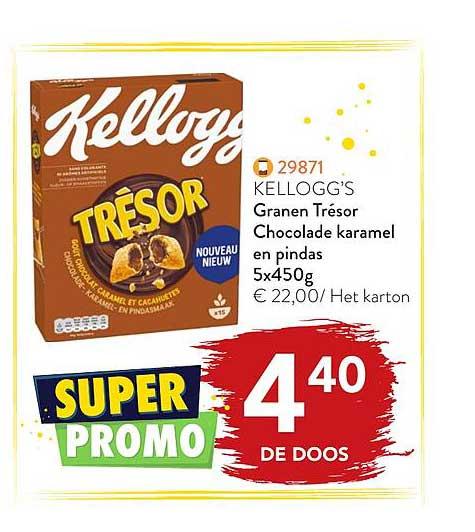 Bidfood Kellogg's Granen Trésor Chocolade Karamel En Pindas