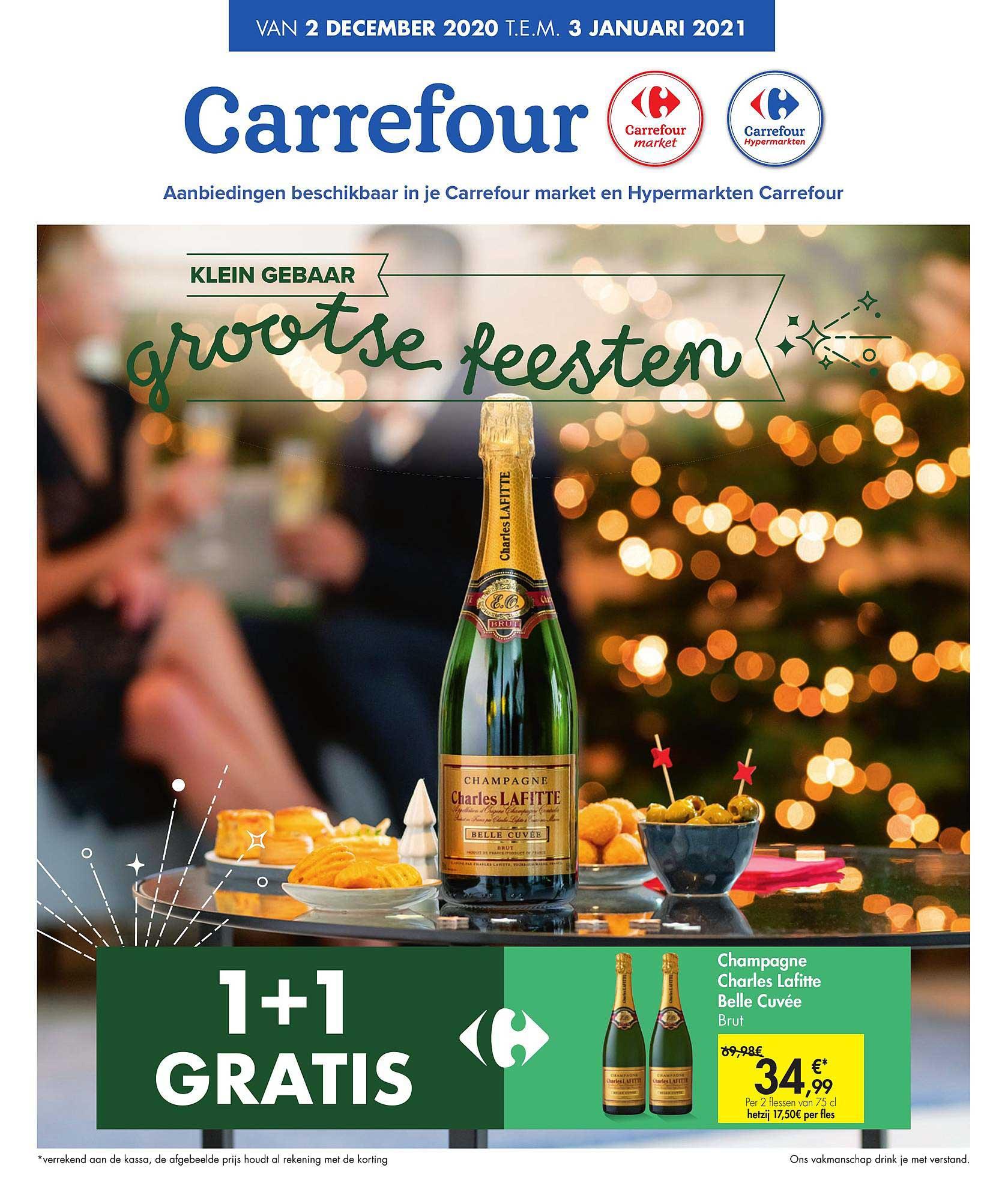 Carrefour 1+1 Gratis Champagne Charles Lafitte Belle Cuvee