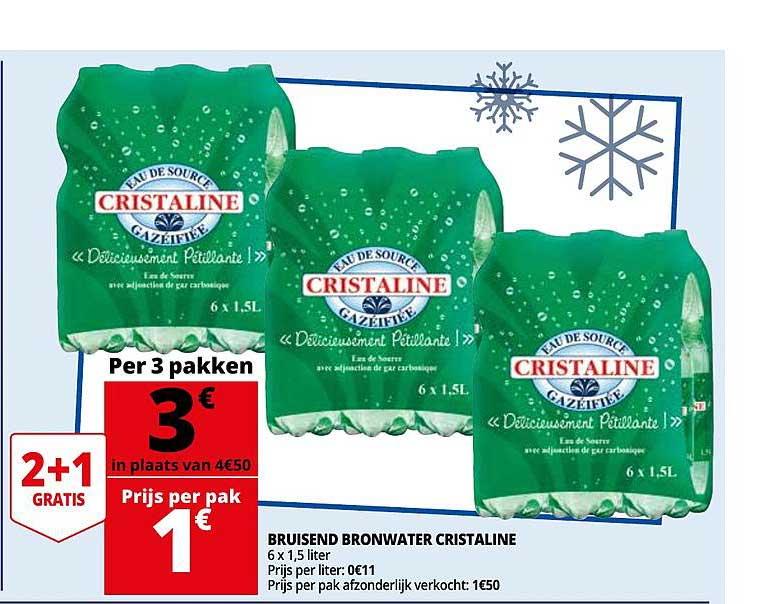 Auchan Bruisend Bronwater Cristaline