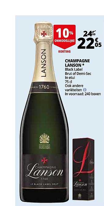 Auchan Champagne Lanson Black Label